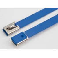 Quality Blue Color Epoxy Coated Stainless Steel Cable Ties Self Locking Zip Ties wholesale