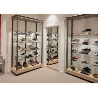 Cheap Durable Inexpensive Shoe Display Cabinet / Glass Shoe Shelves Simple Modern Design for sale