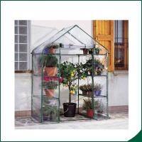 Quality Agricultural Plastic Hot Houses Foldable Greenhouse With Film Or Plastic Sheet 6x8x6.6 Plant Growth Powder coated wholesale
