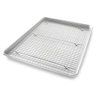 China Stainless Steel Wire Mesh Baking Tray , Bakeable Cooling Rack Set on sale