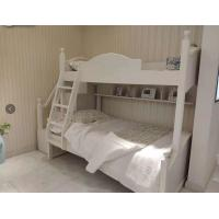 China Modern Simple Two Levels Childrens Single Beds With Ladder And Cabinet on sale