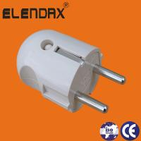Buy cheap Wenzhou Elendax ABS Material German type 2 Roud Pin Plug (P7051) from wholesalers