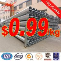 China Octagonal galvanized electric power pole on sale