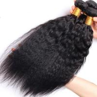 Quality Brazilian / Peruvian Kinky Straight Virgin Human Hair Bundles With Natural Color wholesale