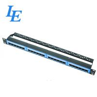 Quality 24 Port Network Patch Panel With Cable Managament UTP Type For Telecommunication wholesale