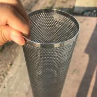 Quality Perforated Mesh Screen Filter Tube Cartridge / Cylindrical Metal Mesh Filter Screen wholesale