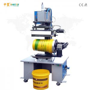 China Dia 300mm Bottle Caps Hot Foil Stamping Machine Auto Gold Foil Printing Machine on sale