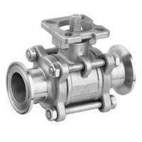 Quality SS 3PC Clamp End Ball Valves with ISO5211 Mounting Pad , CF8M / CF8 / WCB Material wholesale