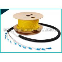 Quality Pre - Terms Fanout 0.9MM SC Fiber Optic Cable 12 Core 50M Length 1000 Mating Cycles wholesale