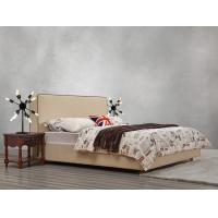 Cheap American design Good quality Gery Fabric Upholstered Headboard Queen Bed Leisure for sale