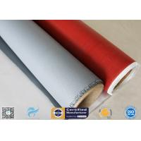 Quality 260℃ Heat Insulation 3732 0.45mm Red Color Silicone Coated Fiberglass Fabric wholesale