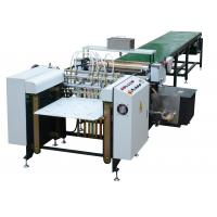 Quality 7 - 40pcs / Min Paper Automatic Gluing Machine White Color For Book Cover wholesale