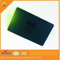 China (100pcs/lot)0.3mm thickness logo laser cut black metal card/card metal/metal business card on sale