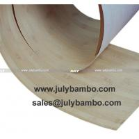 China 0.4mm Bamboo Veneer vertical Natural BVW-2 on sale