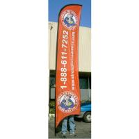 Quality Advertising exhibition event Feather Flag Banners H4m / 13ft Size wholesale