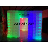 Cheap portable exhibition display inflatable photo booth enclosure/inflatable photo studio with led for sale for sale