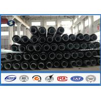 Cheap 69kv Dodecagonal Power Transmission Pole with Bituminous Paniting NEA Standard for sale