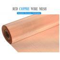 Plain Weave 250mesh Pure Copper Wire Mesh Panels standard Length 30m for sale