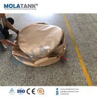 China Molatank PVC TPU Collapsible Bladder Inflatable Water Storage Tanks , High Strength Coated Fabric on sale