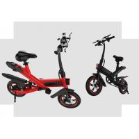 China White / Black / Red Fold Up Electric Bike , Electric Mini Bike For Adults on sale