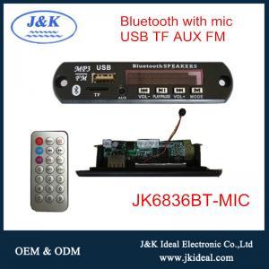 Quality JK6836BT-MIC For car audio usb bluetooth 5.0 fm radio mp3 decoder with microphone wholesale
