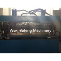 Quality 1220mm Width Corrugated Roll Forming Machine With Touch Screen 4kw Cutter Power wholesale