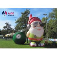 Quality Oxford Fabric Old Inflatable Cartoon Characters Movie Inflatable Santa Claus wholesale