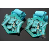 Buy cheap My Race 75K Marathon Custom Metal Sports Medals, Spray Pontan Colors And With from wholesalers
