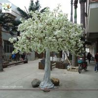 Quality UVG home landsacping high simulation white cherry flower artificial tree for weddings CHR012 wholesale
