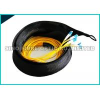 Quality OFNR Jacket Pre Terminated Cable Optical Fiber , ST PC Fiber Optic Breakout Cable wholesale