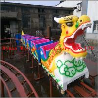 Quality 6 cabins 20 seats fiberglass musical Kiddie Ride Indoor Mini Roller Coaster Sliding Dragon for Sale wholesale