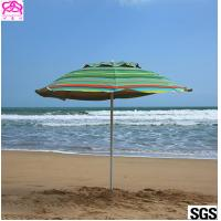 Buy cheap Custom leisure summer outdoor sun beach umbrella , beach umbrella parasol with logo prints from wholesalers