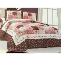 Quality Burgundy Color Home Bed Quilts Modern Technics With Matched Printed 240x260cm wholesale