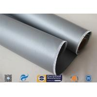 Quality Satin Weave Silicone Coated Fiberglass Fabric 590g Fire Blanket Double Sides wholesale