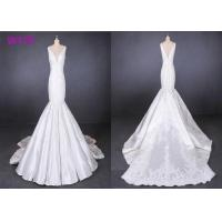 Quality Fish Tail Ladies Wedding Dress Long Tail Satin Lace Mermaid Style Wedding Dress wholesale