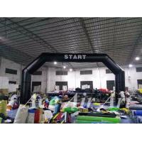 Quality custom 8m wide angle inflatable start/finish line arch with removable logo for race sport event wholesale