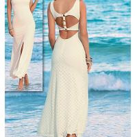 Quality polyester lace open back sexy bodycon deep V long women dress factory supplier wholesale