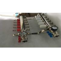 Quality Intelligent Temperture Control Floor Heating Manifold With Two Auto Drain Valve 5 Ways wholesale