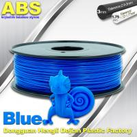 Quality 3D Printer Material Strength Blue Filament  , 1.75mm / 3.0mm ABS Filament Consumables wholesale