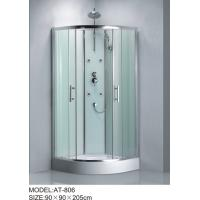 Cheap Shiny chrome complete enclosed shower cubicles Aluminium Rails / Profiles tub shower enclosures for sale