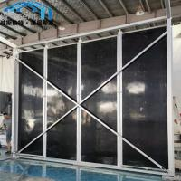 Quality Sturdy Canopy Tent Parts Black Color Sandwich Panel Walls For Coffee Bar wholesale