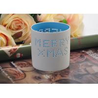 Quality High Temperature Hollow ceramic tealight candle holders for Christmas , Different Patterns wholesale