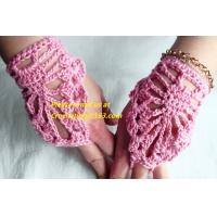 Quality Fashion Style Ladies Knitted Fingerless Winter Thermal Warm Hand Warmer Faux Rabbit Fur Mittens Luvas Gloves wholesale