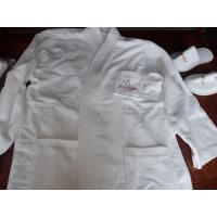 Quality 100% cotton hotel bathrobe with customized embroidery logo and size wholesale