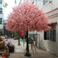 Quality UVG 17 foot large cheap artificial trees in silk cherry blossoms for wedding background decoration CHR161 wholesale