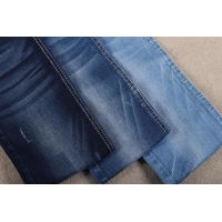 China 9.7oz 329gsm Stretch Cotton Polyester Spandex Denim Fabric For Women Child Jeans on sale