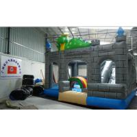 Quality Large Kids Dinosaur Inflatable jumping castle With Slide Combo for supermarket / KFC wholesale