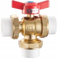 China Three Way Ball Valve DN25 DN20 Brass Valves And Fittings on sale