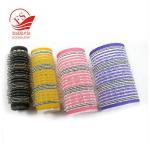 Quality Colorful Hook Loop Plastic Hair Rollers For Beauty , Sponge Hair Curler wholesale