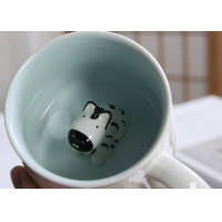 Buy cheap Dolomite Round 3D Bear Personalised Ceramic Mugs from wholesalers